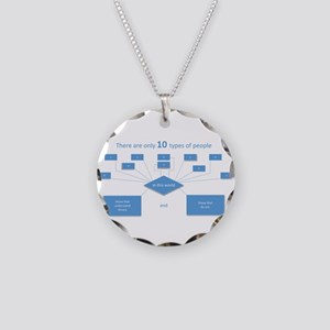10 types of people...understand binary Necklace