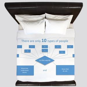 10 types of people...understand binary King Duvet