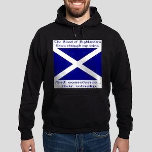 Scottish Blood Whisky St Andrew Hoodie (dark)