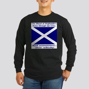 Scottish Blood Whisky St Andrew Long Sleeve Dark T