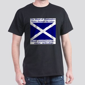 Scottish Blood Whisky St Andrew Dark T-Shirt