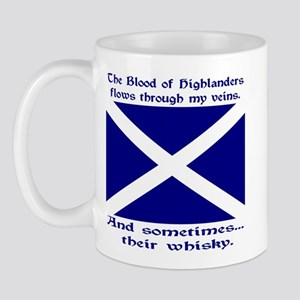 Scottish Blood Whisky St Andrew Left Mug