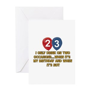 23 Years Old Greeting Cards