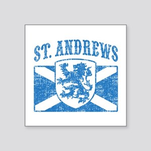 "St. Andrews Scotland Square Sticker 3"" x 3"""