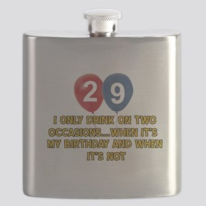 29 year old birthday designs Flask