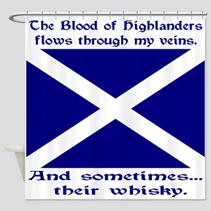 Scottish Blood Whisky St Andrew Shower Curtain