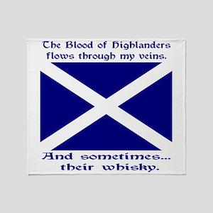 Scottish Blood Whisky St Andrew Throw Blanket
