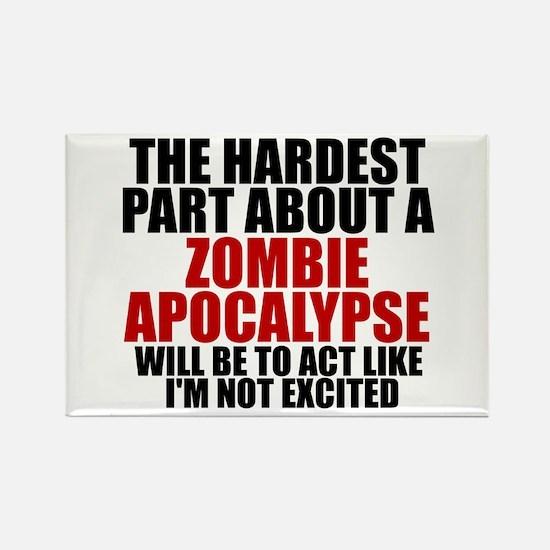 Exciting zombie apocalypse Rectangle Magnet