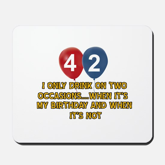 42 year old birthday designs Mousepad