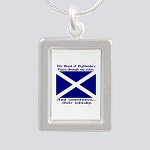 Shamrock of Chile Silver Portrait Necklace