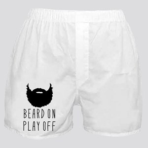 Beard On Play Off Playoff Beard Boxer Shorts