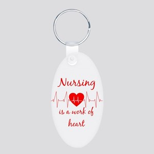 Nursing is a work of the Heart Inspirati Keychains
