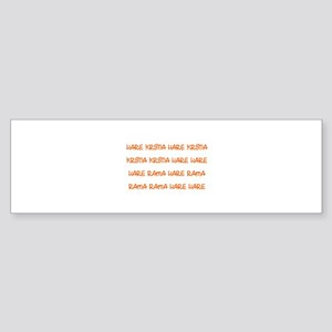 Hare Krsna Maha Mantra Bumper Sticker