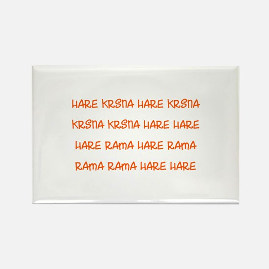 Hare Krsna Maha Mantra Rectangle Magnet