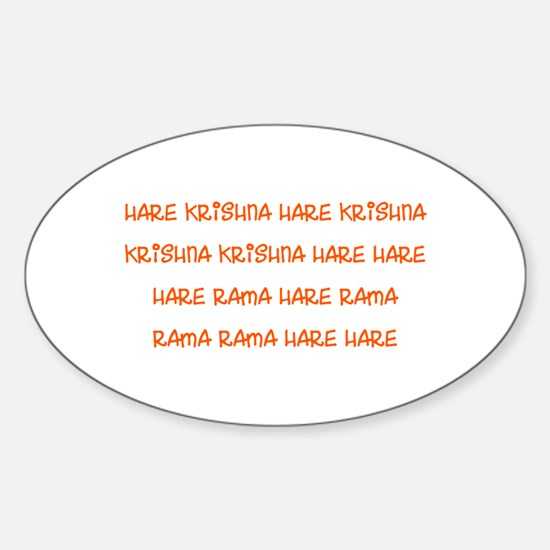 Hare Krishna Maha Mantra Decal