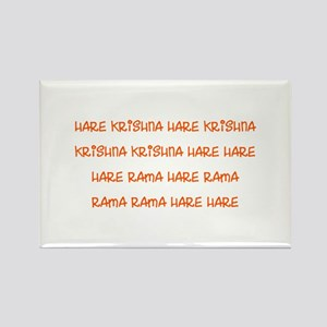 Hare Krishna Maha Mantra Rectangle Magnet