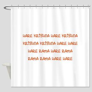 Hare Krishna Maha Mantra Shower Curtain