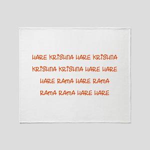 Hare Krishna Maha Mantra Throw Blanket