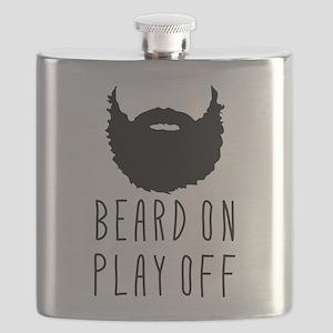Beard On Play Off Playoff Beard Flask