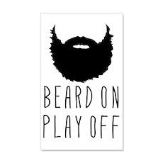 Beard On Play Off Playoff Beard Wall Decal