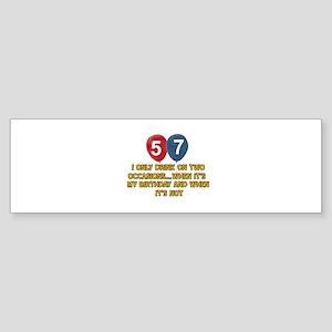 57 year old birthday designs Sticker (Bumper)