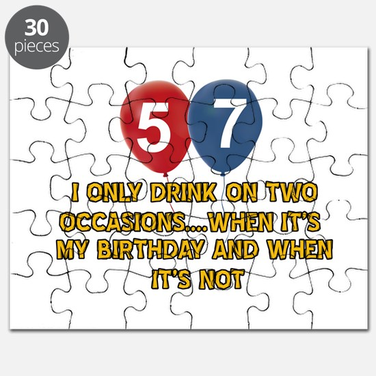57 year old birthday designs Puzzle