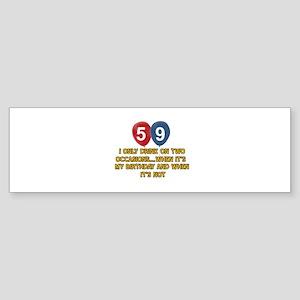 59 year old birthday designs Sticker (Bumper)