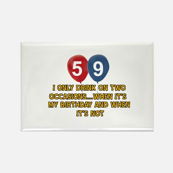59 year old birthday designs Rectangle Magnet