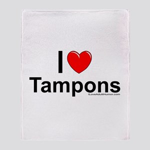 Tampons Throw Blanket