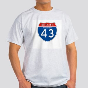 Interstate 43 - WI Ash Grey T-Shirt