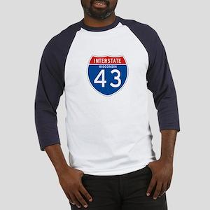 Interstate 43 - WI Baseball Jersey