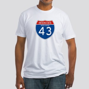 Interstate 43 - WI Fitted T-Shirt