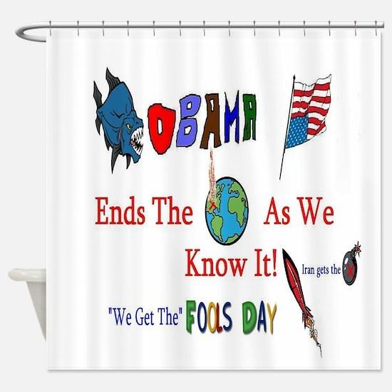 Obama and Iran Shower Curtain