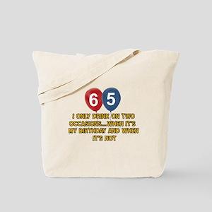 65 year old birthday designs Tote Bag