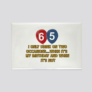65 year old birthday designs Rectangle Magnet