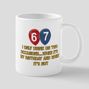 67 year old birthday designs Mug