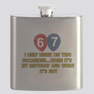 67 year old birthday designs Flask