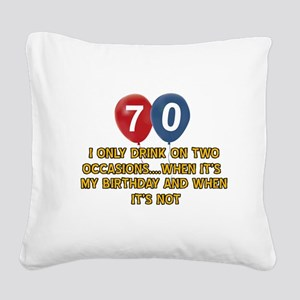 70 year old birthday designs Square Canvas Pillow