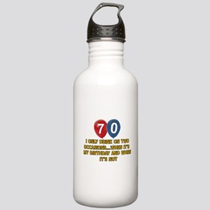 70 year old birthday designs Stainless Water Bottl