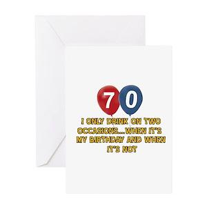 70th birthday greeting cards cafepress m4hsunfo