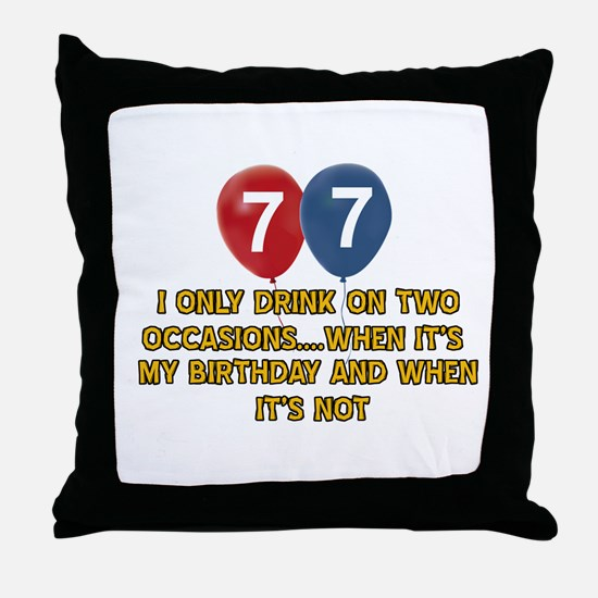 77 year old birthday designs Throw Pillow