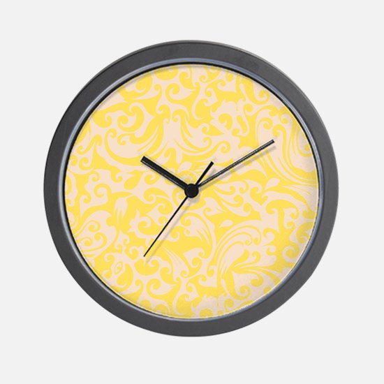 Lemon Zest & Linen Swirls Wall Clock