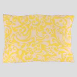 Lemon Zest & Linen Swirls Pillow Case