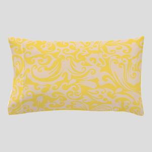 Lemon Zest & Linen Swirls Pillow Case