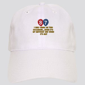 87 year old birthday designs Cap
