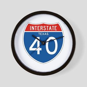 Interstate 40 - TX Wall Clock