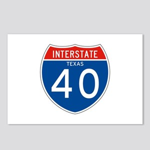 Interstate 40 - TX Postcards (Package of 8)