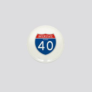 Interstate 40 - TX Mini Button