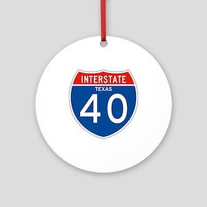 Interstate 40 - TX Ornament (Round)