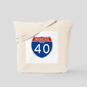 Interstate 40 - TX Tote Bag